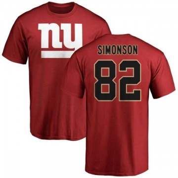 Youth Scott Simonson New York Giants Name & Number Logo T-Shirt - Red
