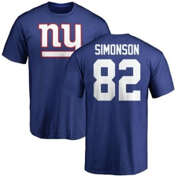 Youth Scott Simonson New York Giants Name & Number Logo T-Shirt - Royal